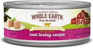 Whole Earth Farms Grain Free Real Turkey Pate Recipe Canned Cat Food 2 75 Oz Case Of 24