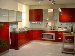 Cabinet And Lighting Extraordinary Kitchen Design Ideas With Red Cabinet And Lighting W