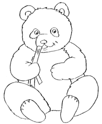 Cute Panda Bear Coloring Pages For Kids Painted Canvas Pandas