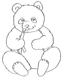 Cute Panda Bear Coloring Pages For Kids Painted Canvas Pandas