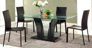 glass dining table sets set decorating tips modern room with gs base and four chairs tables staggering round