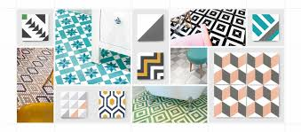 Design Your Own Tiles Encaustic Cement Tiles With Geometric Cubic Or Circular