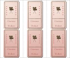 Draw Tickets Template 30 Free Movie Ticket Templates Printable Word Formats