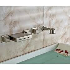 wall mount waterfall tub faucet awesome double handle wall mount waterfall tub faucet with