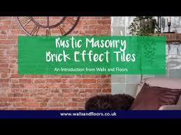rustic masonry brick effect tiles an