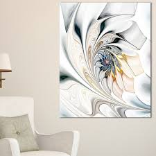 White Stained Glass Floral Art - Large Floral Glossy Metal Wall Art - Free  Shipping Today - Overstock.com - 19551715