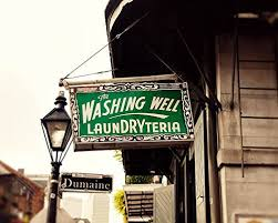 >amazon washing well laundryteria vintage sign photography large  washing well laundryteria vintage sign photography large wall art decor new orleans fine art photography print