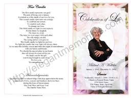 sample of obituary celebration of life service program sample samples of memorial