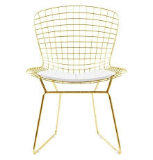 bertoia wire chair. Bertoia Wire Chair - Gold Version Reproduction | GFURN