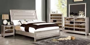 golva low profile bedroom set (silver)  bedroom sets  bedroom