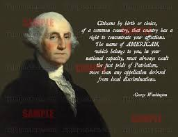 Quotes About George Washington Magnificent George Washington Assimilation Quote Poster