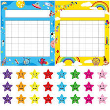 Pack Of 64 Incentive Chart Yoklili Colorful Rainbow Space Theme Desk Incentive Pad For Classroom Teachers Students Includes 1600 Star Stickers