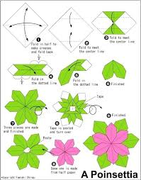 How To Make Flower With Paper Folding Paper Folding Flowers How To Fold An Origami Flower Poinsettia