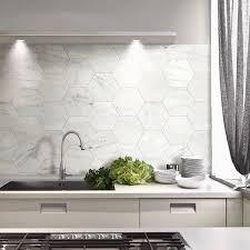 modern kitchen tile. Large Marble Hex Tiles For A Modern Kitchen Tile  