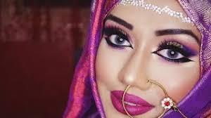 purple gold glam asian indian stani deshi bridal makeup tutorial arabic bridal stani bride