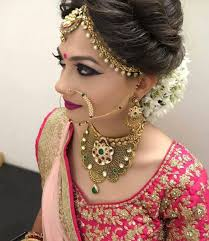 sumptuous mughal jewellery with heavy stone work and elaborated enamelling by patel pritiben bridal makeup