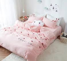 Strawberry Girls Pink Duvet Cover Bedding Sets