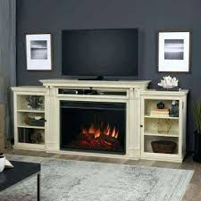 electric fireplace tv stands off white real flame stand in home depot canada