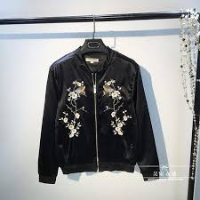 new winter plum bird embroidered jacket women s casual las uniform thin cotton padded jacket