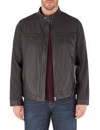 jeff banks black biker jacket