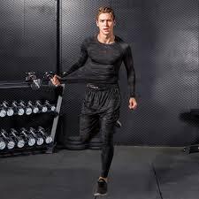 <b>High Quality</b> Compression Men's Sport Suits <b>Quick Dry</b> Running sets ...