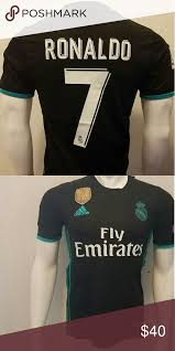 The real madrid 20/21 away jersey is inspired by the city of madrid focusing on a clean and bold approach. Ronaldo Real Madrid Black Away Jersey 2017 18 Ronaldo Real Madrid Black Away Jersey 2017 18 La Liga Version All Jersey Clothes Design Fashion Fashion Design