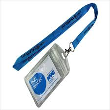 Work Identity Card Work Id Card Holder Lanyard Silkscreen Printed Work Id Card Holder