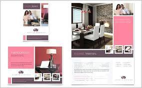Interior Design Brochure Template Free Flyer Vector Website
