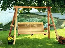 wooden outdoor swing with canopy swings for s sets