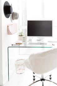 white modern office chair white rolling. Lovely White Fur Desk Chair For Your Home Office Decor: Adjustable Swivel Modern Rolling I