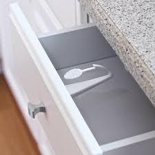 Adhesive Mount Cabinet Drawer Lock