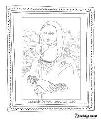 Mona Lisa Final 01 scribble blog inspiring creativity design on scribbles coloring book