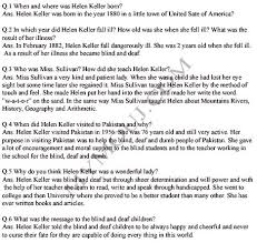 helen keller question answers chapter summary ix class