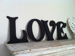 wooden letters wall art uk