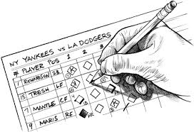 Image result for pic of baseball scorekeeping
