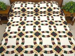 Double Wedding Ring Quilt Tops For Sale Autumn Tones Double ... & Double Wedding Ring Quilt Tops For Sale Autumn Tones Double Wedding Ring  Quilt Photo 1 Quiltsmart Adamdwight.com