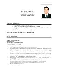 Merchandiser Cv Sample Resume For Spectacular Well Include Examples