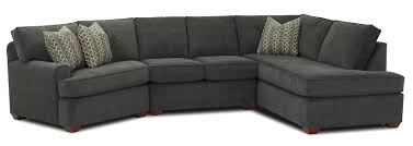 Kittles Bedroom Furniture Hybrid Sectional Sofa With Right Facing Sofa Chaise By Klaussner