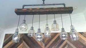wood beam chandelier chandeliers details industrial steel pipe and rustic barn how