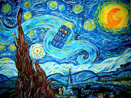 vincent van gogh painting and doctor who tardis background comfortable cushion pillow case inch polyester two side printing zippered
