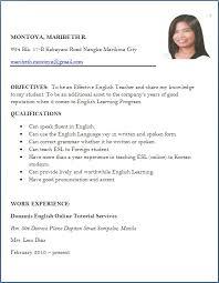 English Teacher Resume Template Resume Example