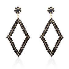 chandelier hoop earrings flower simple gothic oversized gold white black for