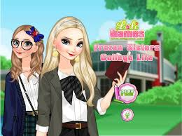 dress the sweet frozen sisters in cool outfits in this brand new dress up make up game for s