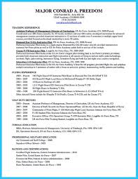 Military Pilot Resume Flight Instructor Resume Sample Archaicfair