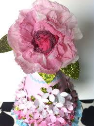 Paper Flower Hats Paper Flower Glitter Party Hat Violet Cottage