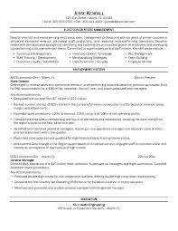 Retail Store Manager Resume Example 3 Examples Clothing Sample