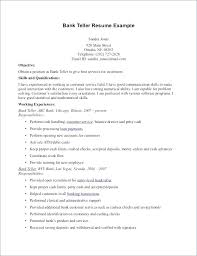 Bank Teller Resume Template Fascinating Bank Resume Bank Resume Template Bank Teller Resume Skills With No