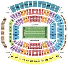 Everbank Field Seating Chart Everbank Field Tickets And Everbank Field Seating Charts