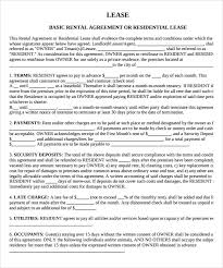 Property Lease Agreement Template Sample Property Lease Agreement ...