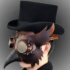 us 105 steampunk pe doctor mask costume burning man gothic punk leather mask studded face bandana vintage festival edm rave outfits pindarave